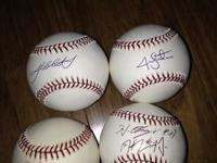 I am looking for the best offer on these four signed