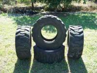 """4 Skidsteer Loader Tires $100 (for all 4) fits 17 1/2"""""""