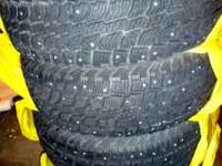235/70R-16 Wintercat SST Traction Blackwall with Studs.