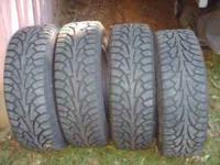 set of 4 HANKOOK WINTER I PIKE 215/65R16, tires 2 with