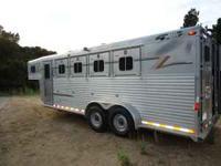 1998 all aluminum gooseneck 4 horse stock combo