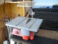 4'' table saw. used for small jobs. making frames,ect.