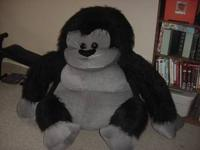 We have a huge stuffed guerilla for sale. My son won in
