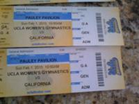 I have 4 General Admission tickets to UCLA Woman's