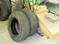2 uniroyal and 2 goodyear tires -- 225/75/16 excellent