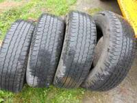 Four excellent condition tires with many miles left on