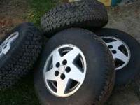 4 tires and rims for sale 235/75 R15 rims are 5 lugs