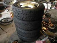 4 tires with rims asking $300.00. no trades. cash only.