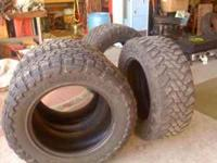 I have 4 Toyo 35x12.50R20LT Tires for sale. Tread is
