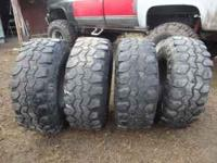 4 Tsl Super Swamper tires that are 36x14.50x16.50 tire