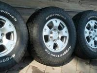 "I have 4 16"" rims from a 2012 Toyota Tundra with BF"