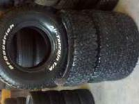 I have 4 used 285-75-16 Bfgoodrich Traction T/A tires