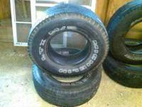 I have 2 used Wild Country 265/70/r16 with 20 percent