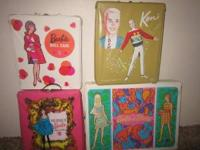 I have 4 vintage Barbie and Ken doll cases for sale. I