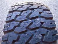 "(4) ""Virtually New"" 35x12:50-17 SXT Mud Terrain Tires,"