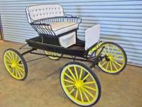 Custom built 4 Wheel Carriage Black with motorcycle
