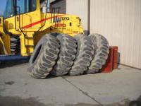 (4) 20.5 X 25 SD 16ply Loader Tires Approx. 40% of