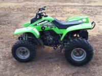 2005 Lime green Kawasaki KFX 250, With lime green