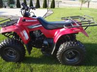 2007 Kawasaki 4-wheeler in excellent shape. Riden very