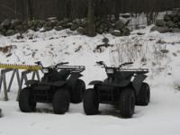 2 >> 1985 Yamahn 4 wheelers New Brakes,batteries,cables