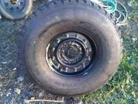 Goodyear Wrangler MT 37x12.5x16.5 tires and 8 lug
