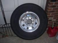 "4 Wheels and Tires For F250 8 lug 16"" billet aluminum"