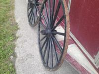 i have for sale for old wooden wagon wheels great