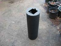 "4"" x 4"" squirrel baffle for use in mounting a bird feed"