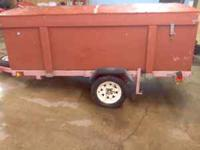 4 x 8 utility trailer with sides and top 1 and 7/8""