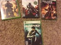 The games   Assassin's Creed 2-$5  Gears of war 2-$5