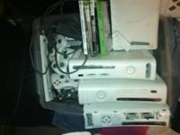 Four Xbox 360s 1 does work and reads some games. but 3