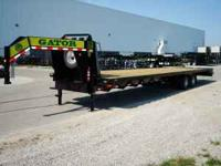 new 2012 35+5' gooseneck trailers 10,000 lb oil bath