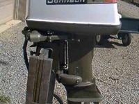 This is a 1973 Johnson 40 h.p. outboard motor with