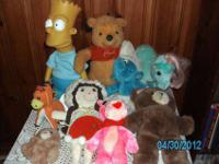 Large lot of late 70's and early 80's Vintage stuffed &