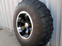 40 inch military mud tires with brand new 20X10 black