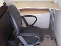 I am selling a computer desk with sliding keyboard tray