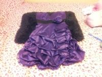 I have 5 dresses total.The Dark shiny purple is a size