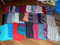 I have 40 pieces of miscellaneous knit fabrics for