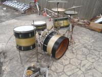 40's Ludwig WFL KEYSTONE drum set MANY extras....