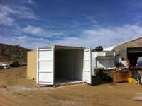 40' steel shipping container. Wind and water tight,