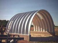 40' wide 30' deep 18' tall steel Quonset building New