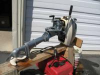 4 horse power Evenrude out-board,___ 6 Gallon Gas
