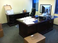 This executive office desk would be great in any home