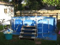 "For Sale.16' x 40"" intex pool complete with hayward hi"
