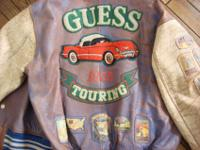 Guess Touring Leather Jacket with the classic