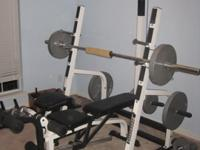Deluxe weight bench and squat rack (IMPX Powerhouse).