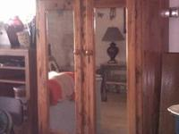 Wardrobe closet for hanging clothes. Cedar lined.