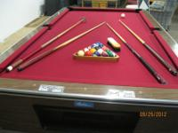 ?3/4 inch slate pool table for sale includes three pool