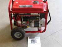 Available:. Model Generac 4000EXT.  4000 watt portable
