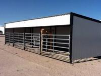 12x40 cattle shelter with all gates calving pen with
